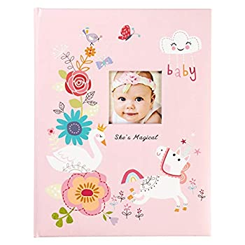C.R Gibson   She s Magical   Pink Baby Memory Book for Girls 48 Pages 9.1   x 11.5