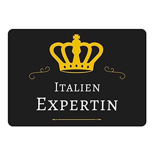 Multifanshop Mousepad Italien Expertin schwarz
