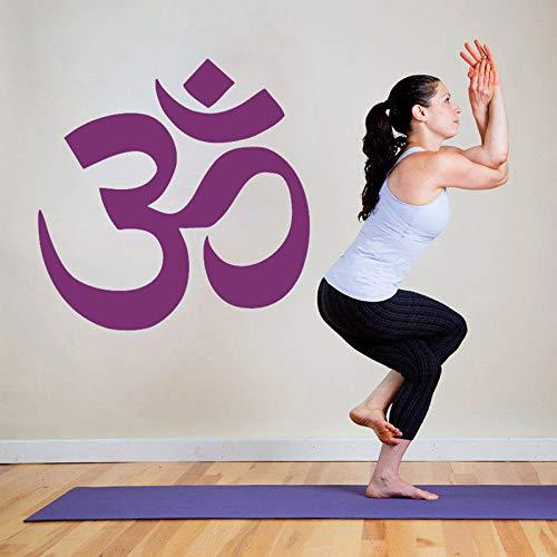 Yoga Logo Vinyl Aufkleber Yoga Studio Dekoration Mandala Hinduismus Logo Wandaufkleber Buddha Home Dekoration Wandaufkleber A2 42x43cm