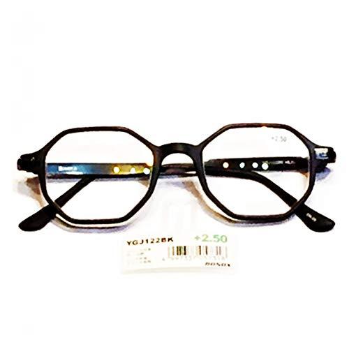 YGJ122 BONOX ダルトン おしゃれ 老眼鏡 シニアグラ Reading Glasses (BLACK, 1.5)