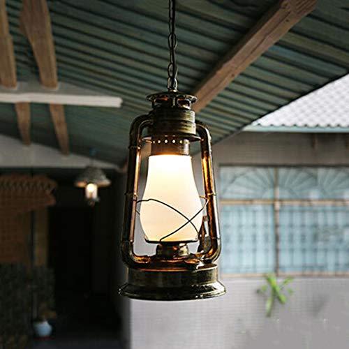 TOYM UK-Rétro lanterne lampe à pétrole Vintage chinois vieux classique antique bar café terrasse table forgé lustre en fer