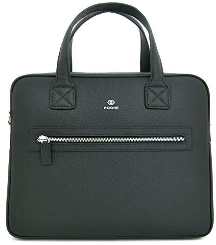 Noomi Piccadilly Bag Professionelle Tasche aus echtem Leder, 35 cm, Schulranzen, 1015PPTL00, Schwarz, 1015PPTL00