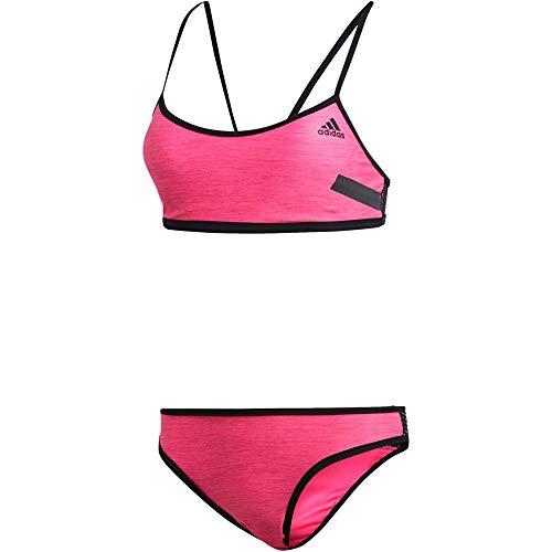 adidas Damen Solid Beach Volleyball Bikini, Shock Pink/Black, 40
