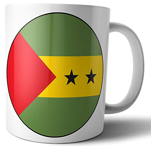 Tasse mit Flagge von Sao Tome & Principe – Tee – Kaffee – Tasse – Geburtstag – Weihnachten – Geschenk – Secret Santa – Strumpffüller