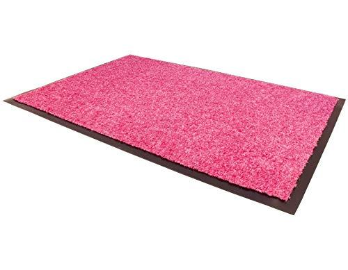 Schmutzfangmatte CONTI – Pink 40cm x 60cm, Waschbare, Rutschfeste, Pflegeleichte Fußmatte, Eingangsmatte, Küchenläufer Matte,...