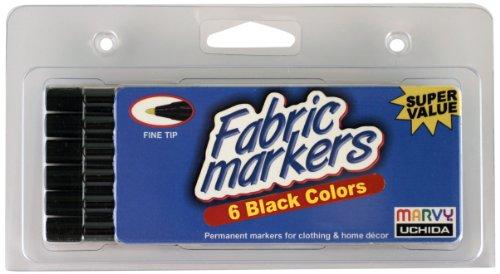 Uchida Marvy Fine Tip Black Color Fabric Marker Set Art Supplies
