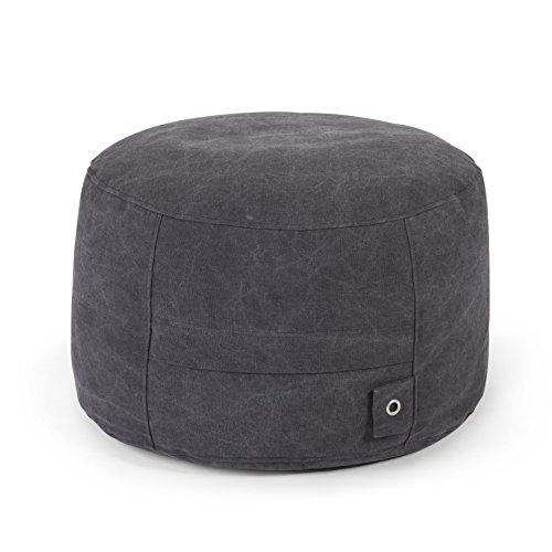 Outbag Rock Pouf, Noir, 60 x 60 cm