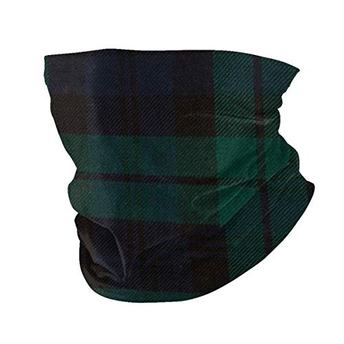 Black Watch Plaid Neck Gaiter Half Face Mask - Sun UV Dust Protection Windproof for Cycling Hiking Running