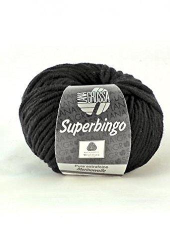 Lana Grossa Superbingo 8 - Schwarz