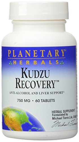 Planetary Herbals Kudzu Recovery 750mg - With Calcium - 60 Tablets