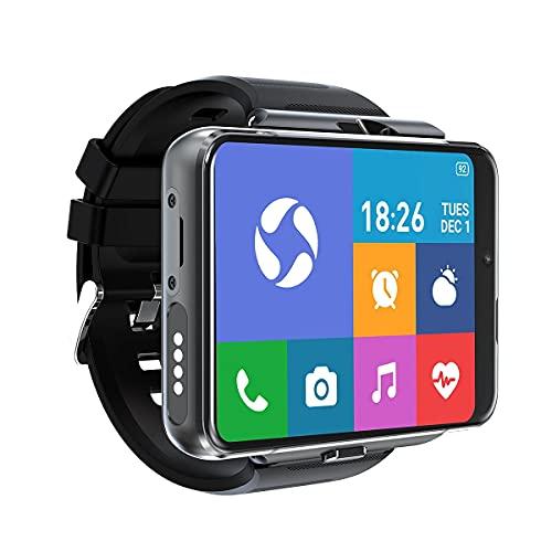 "4G Smart Watch Phone, Android 9.0 MTK6761 Quad Core 4GB+64GB Smartwatch 2.88"" Large Screen Men Watch 2300mAh 5.0MP+13.0MP Dual Camera Face Unlock IP67 Waterproof Fitness Activity Tracker"