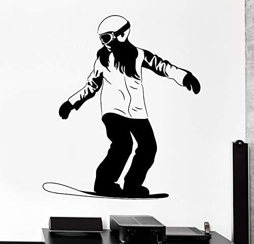 hetingyue Cool Winter Sports Ski Wall Sticker Home Decoration Living Room Sticker Poster Art Deco Vinyl Mural 42x49cm