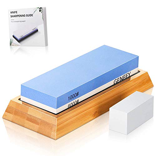 knife sharpening stone set,No cracking whetstone 1000/6000,knives sharpener waterstone kit for chef knife/scissors/axe/hatchet/blade,wera tools honing stone wet stone with sharping guide