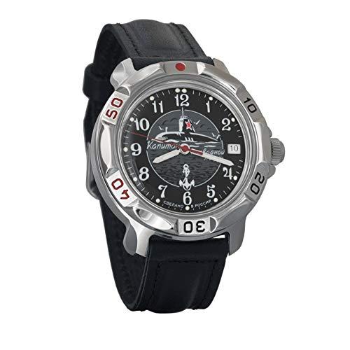 Vostok Komandirskie 2414 Reloj Militar Ruso mecánico de Cuerda Manual // 811831 (Classic)