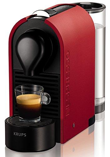 Krups Nespresso U - Cafetera con cápsulas, color rojo mate