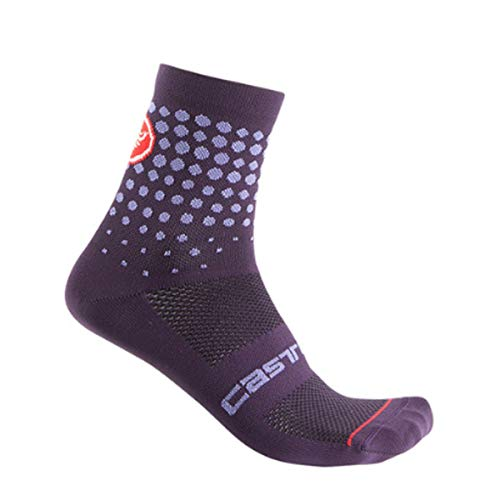 castelli Puntini, Calcetines para Mujer, Mujer, 4520082, Deep Purple, L/X