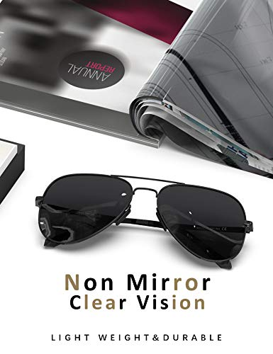 LUENX Aviator Sunglasses for Men Women Polarized – UV 400 Protection with case 60MM