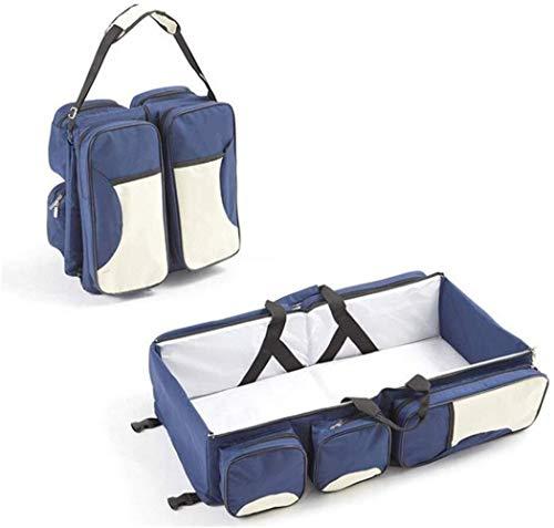 HLR Lit de Voyage multifonction Expansion Portable pliant mobile Lit bébé dépressurisation Bionic Ridge Protection haute capacité maman Sac à bandoulière (Color : A)