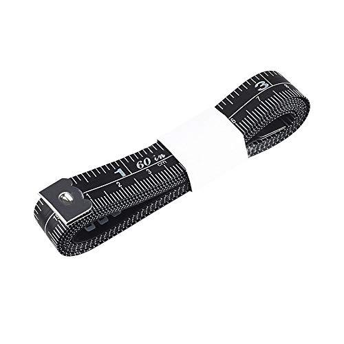 大川(OOGAWA) メジャー テープメジャー 1.5m 巻き尺 巻尺 メジャー 手芸 服 テーラー縫製 センチ インチ ウエストメジャー 16mm幅 両面印刷 測定用 裁縫 手芸(ブラック 1.5m/60inch)