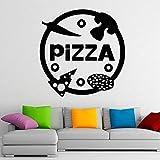 HGFDHG Pizza Pared Vinilo calcomanía pizzería Pegatina Arte diseño de Interiores hogar Cocina decoración Deliciosa decoración de Pared Ventana