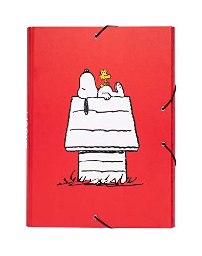 Grupo Erik CSG0049 Cartella con elastici A4 Snoopy