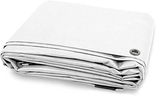 AGRIPRO Bâche PVC à œillets, imperméable, extérieur, blanc, multi-usages (3 x 3 m)