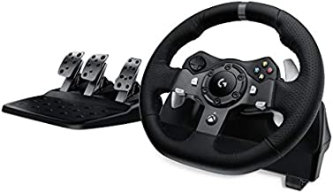 Logitech 941-000121 G920 Dual-Motor Feedback Driving Force Racing Wheel with Responsive Pedals for Xbox One - Black
