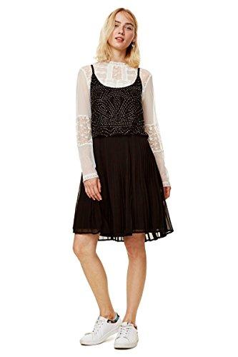 Desigual Vestido Fiona Negro para Mujer. 42 Negro