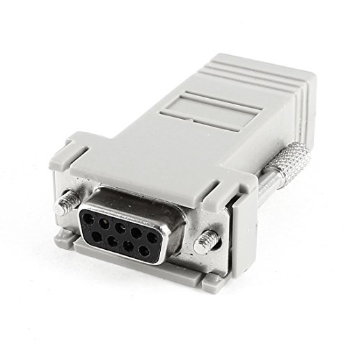 DealMux VGA DB9 9 pines hembra a CAT5 CAT6 RJ45 8P8C conector acoplador hembra