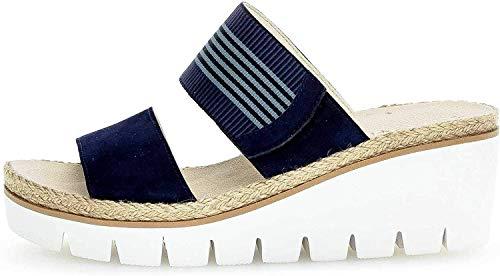 Gabor Damen Casual 44.63 Pantoletten, Blau (Bluette Kombi 16), 40 EU
