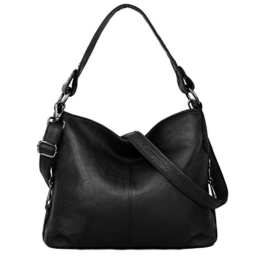 YALUXE Genuine Leather Purse for Women Shoulder Bag Stylish Tote Travel Top-Handle