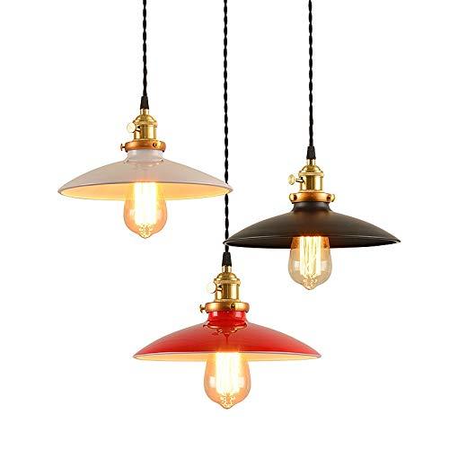 JUULLN Luces Colgantes Retro Colgante Lámpara Loft Lámpara Colgante LED/incandescente Vintage Suspensión...