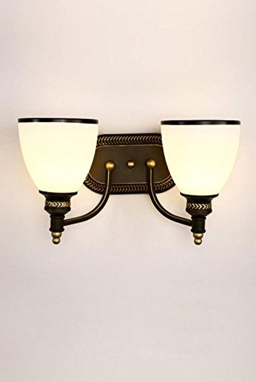 Wlxsx Bett-Schlafzimmer-Eisenkunst-Einzelkopflampe Retro- Hotelwandlampen-Raumkorridoreingang-Ganglampe Doppelter Kopf
