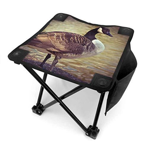 End Nazi Taburete Plegable Silla Plegable Pesca Ganso Animal Aves Aves de Corral Graylag Goose Gander Pesca Sillas al Aire Libre Viajar con Bolsa de Transporte