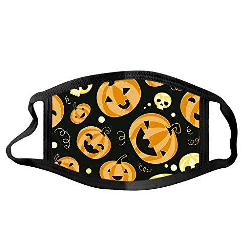 riou Halloween Mask, Erwachsene Mundschutz mit Motiv Waschbar Wiederverwendbar Mund und Nasen Halstuch für Damen Herren