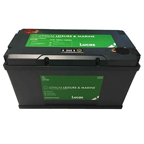 LUCAS - Batterie Marine Loisirs LLX100 Lithium 100 AH GR31 330X173X 216