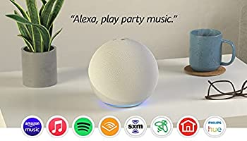 Echo  4th Gen  | With premium sound smart home hub and Alexa | Glacier White