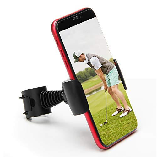 Coolrunner Record Golf Swing, Black Golf Phone Holder Clip, Record Golf Swing Phone Holder, Golf Training Aid Tool for Easy to Set Up