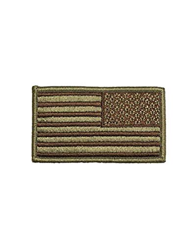 US Air Force Reverse OCP and Spice Brown Flag with Hook Fastener