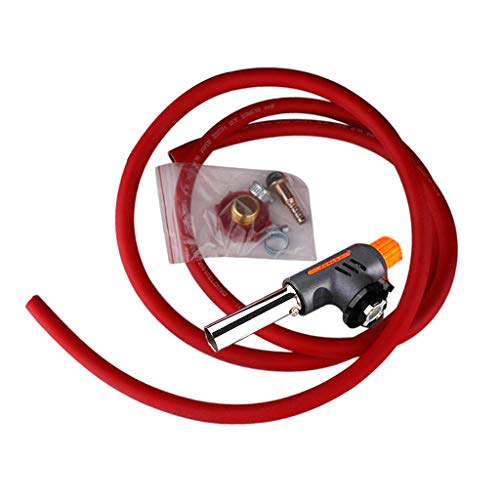 Generic Electronic Ignition Liquefied Gas Welding Torch Kit Gas Self Ignition Plumbing Soldering Welding Turbo Torch - Hose+Adapter+Head