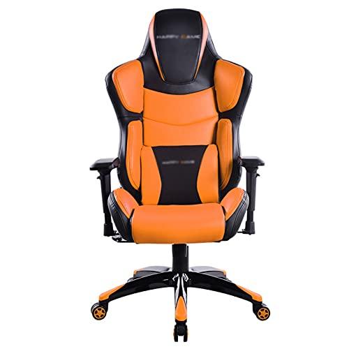 Silla de juegos, silla de oficina, ergonómica, para ordenador, electrónica, con asiento de altura ajustable, silla de carreras para adultos y adolescentes