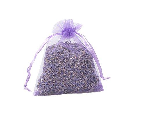 TooGet Organische Lavendel Knospen Beutel Trockene Blumen Deo für Zuhause und Büro, Schubladen, Schränke, Auto, Reisen Entspannende Aromatherapie - 12PCS