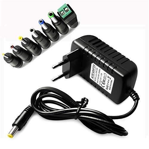 12V 2A 24W AC/DC Adapter Netzteil Switching Adaptor Power Supply Mit 7 Cabrio Stecker 5.5mmx2.1mm, 5.5mmx2.5mm, 3.5mmx1.35mm, 4.0mmx1.7mm, 2.5mmx0.7mm, 6.3mmx3.0mm, LED Streifen