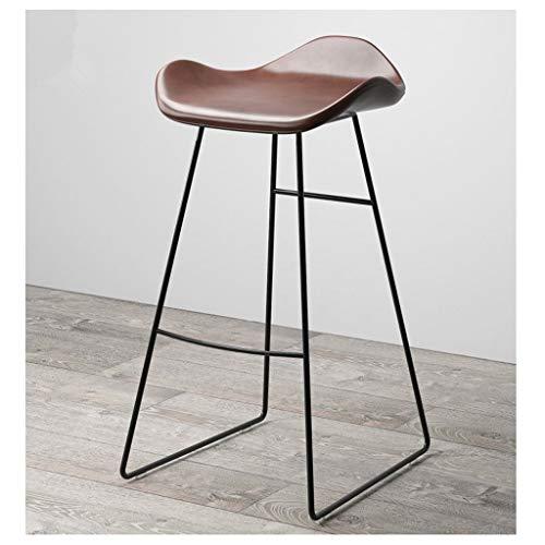 ZJBD barkruk barkruk retro smeedijzeren hoge stoel keukenstoel, barkruk zonder rug, bruin