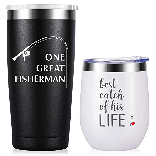 Wedding Anniversary for Couple Friend Lovers Cups Stainless Steel Wine Tumbler Travel Mug with Straw and Lid,2 Pack