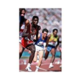 Leichtathletik-Poster Carl Lewis 3, Sportposter, Leinwand,