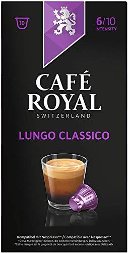 Café Royal Lungo Classico, 50 Nespresso®* kompatible Kapseln, 5er Pack (5 x 10 Kaffeekapseln)