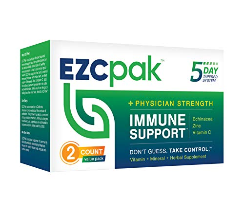 EZC Pak 5-Day Immune System Booster for Cold and Flu Relief (Pack of...