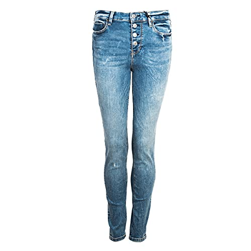 Guess 1981 Exposed Button Jeans, Blu, 27 Donna