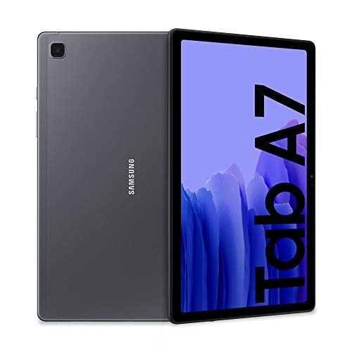 "Samsung Galaxy Tab A7 Tablet, Display 10.4"" TFT, 32GB Espandibili fino a 1TB, RAM 3GB, Batteria 7.040 mAh, WiFi, Android 10, Fotocamera posteriore 8 MP, Dark Gray [Versione Italiana]"